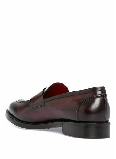 Barrett Deri Loafer Ayakkabı Bordo